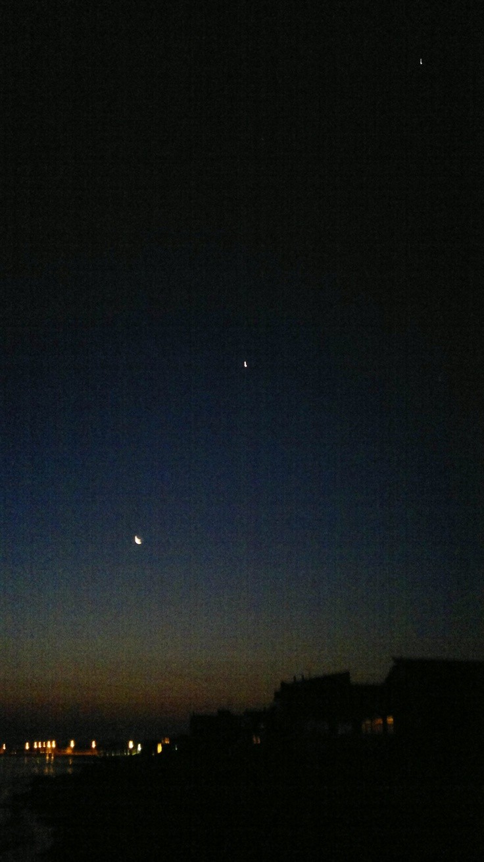 Giove, la Luna e Venere tutti in fila!