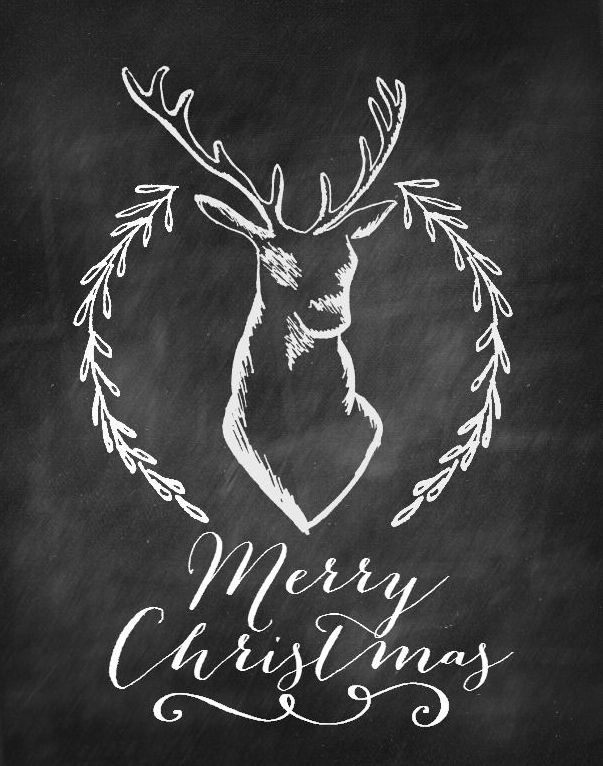 merry christmas chalkboard free printables nest of posies