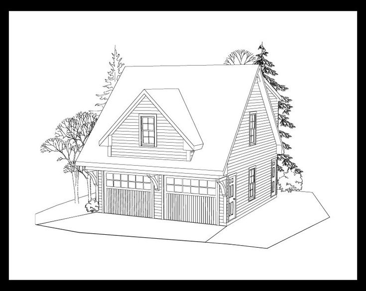 Image detail for -This is a snazzy looking 2 car garage with a studio apartment above ...