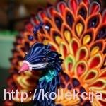 Kanzashi - Peacock tutorial
