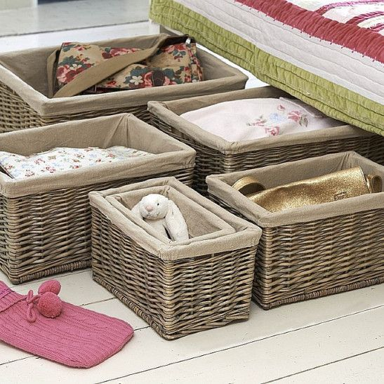 Stylish lined newspaper baskets in 6 practical sizes.