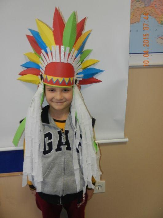 Kartondan Kızılderili şapkası yapımı