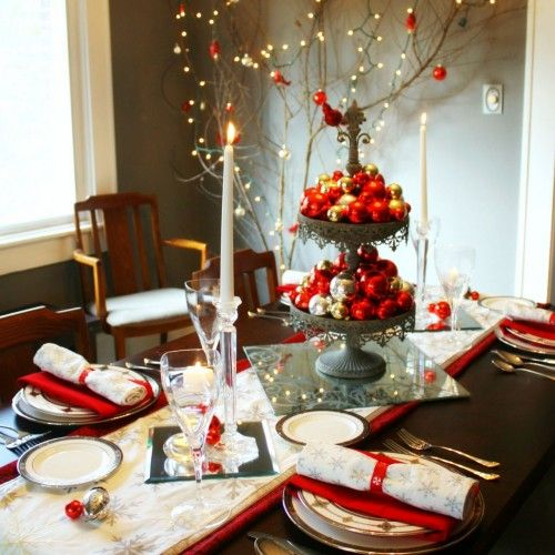 """43 Best Christmas """"art De La Table"""" Today Images On Pinterest Interesting Christmas Decorations For Dining Room Inspiration"""