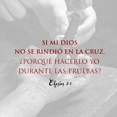Si mi Dios no se rindió en la cruz. ¿Porque hacerlo yo durante las pruebas?   Ef. 5.1