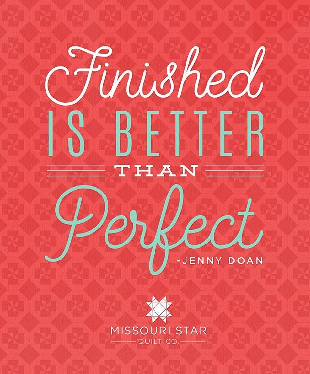 Raise your hand if you agree! Even the best quilters make mistakes. From the wise words of Jenny, Don't die over it! Finished is better than perfect! Get this free printable with the link in the profile! @mommadoan #jennydoan #quilting #msqc