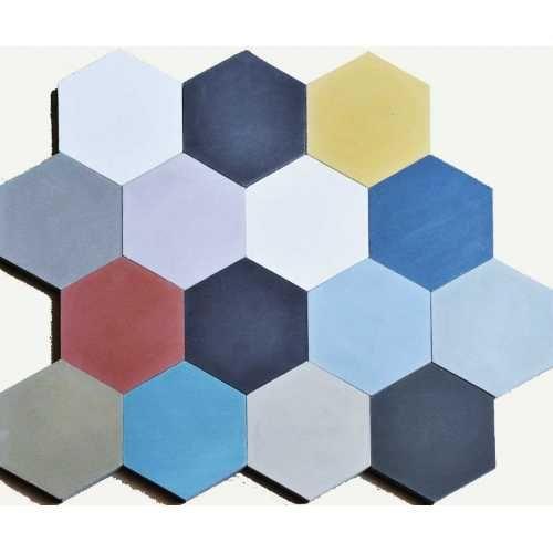 Cement tegel hexagonaal 18,3x16 cm