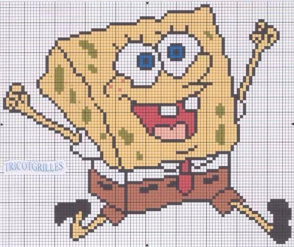 34 best Spongebob images on Pinterest | Bob esponja, Punto de cruz y ...