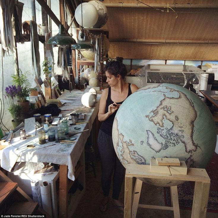 Globes at the studio of Bellerby & Co. Globemakers in Stoke Newington can sell for up to £...