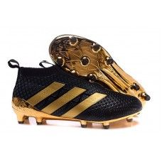 Ireland Adidas Womens ACE 16+ Purecontrol FG/AG Soccer Cleats - Black/Gold