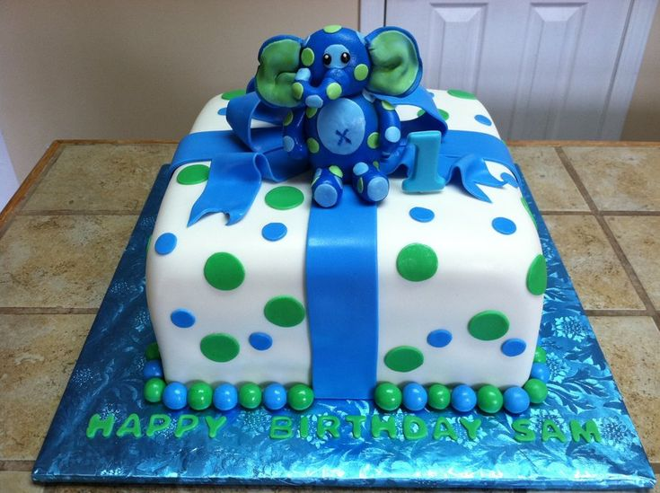 baby boys first birthday cakes | First birthday cake - by Tetyana @ CakesDecor.com - cake decorating ...