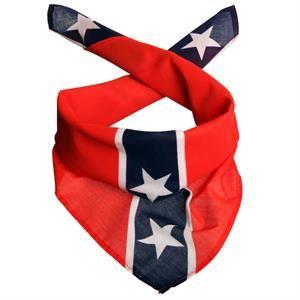Scarf med Amerikansk Sydstatsflag