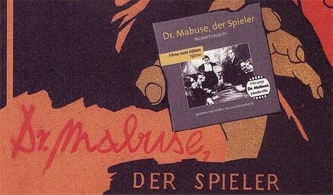 """Die Jagd nach dem Meisterverbrecher geht weiter und eine Gelegenheit, seiner habhaft zu werden, war am Freitag, den 28.5.2010. Um 18.00 Uhr fand im Literaturarchiv Saar-Lor-Lux-Elsass in Saarbrücken-Dudweiler eine Vorstellung des Hörbuchs """"Dr. Mabuse, der Spieler"""" statt, das als Nr. 3 der Hörbuchreihe """"Filme zum Hören"""" 2010 erschienen ist."""