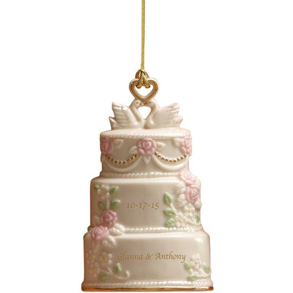 Celebration Of Love Wedding Cake Ornament By Lenox