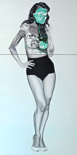 Mint Green Pin Up (2013) by Anielka Hampson