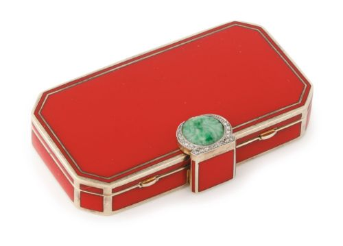 A French gold, enamel, and jeweled compact, Auguste Peyroula, Paris, circa 1930 | sotheby's