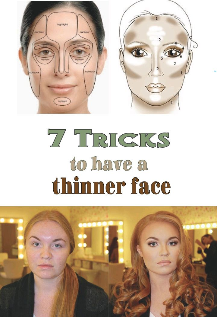 "You don't consider yourself to be beautiful because you feel your face should be thinner? You want an oval that looks thinner? All this is possible through a proper use of make-up. With a few gestures and a little ""trick"" you can get quick results to refine your face"