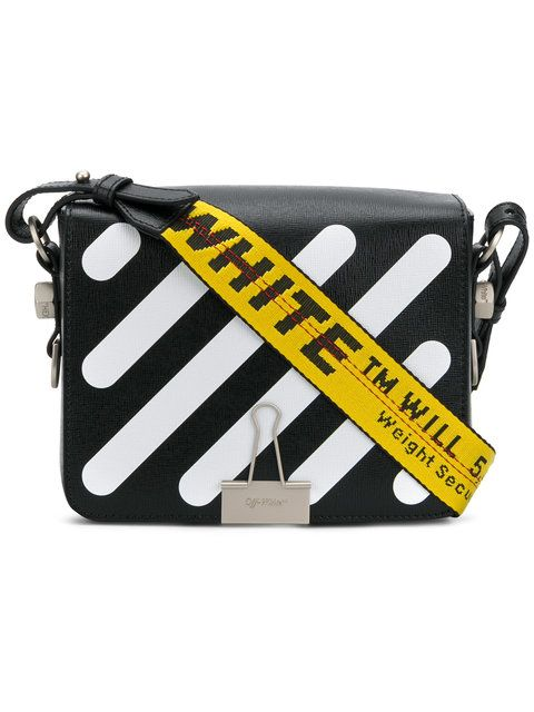 7b967b9c58f5c Shop Off-White striped crossbody bag