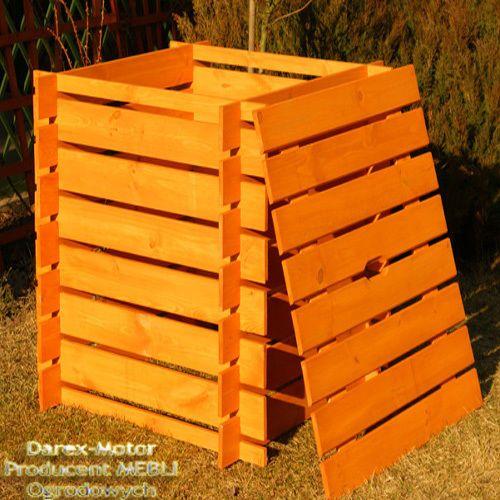 komposter holz 700 l bemalt kompostbeh lter kompostsilo. Black Bedroom Furniture Sets. Home Design Ideas