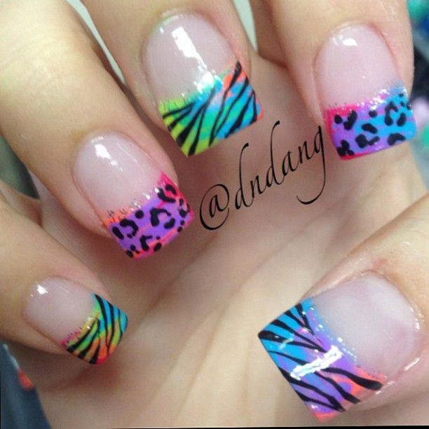 Mix if Gradients, Colors, and Animal Prints to Tips