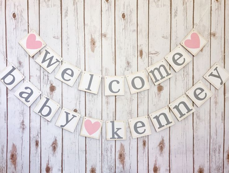 WELCOME BABY BANNER, baby name banner, welcome baby sign, welcome baby boy, welcome baby girl, welcome baby name banner, welcome baby by TheTangledTwine on Etsy https://www.etsy.com/listing/472498970/welcome-baby-banner-baby-name-banner
