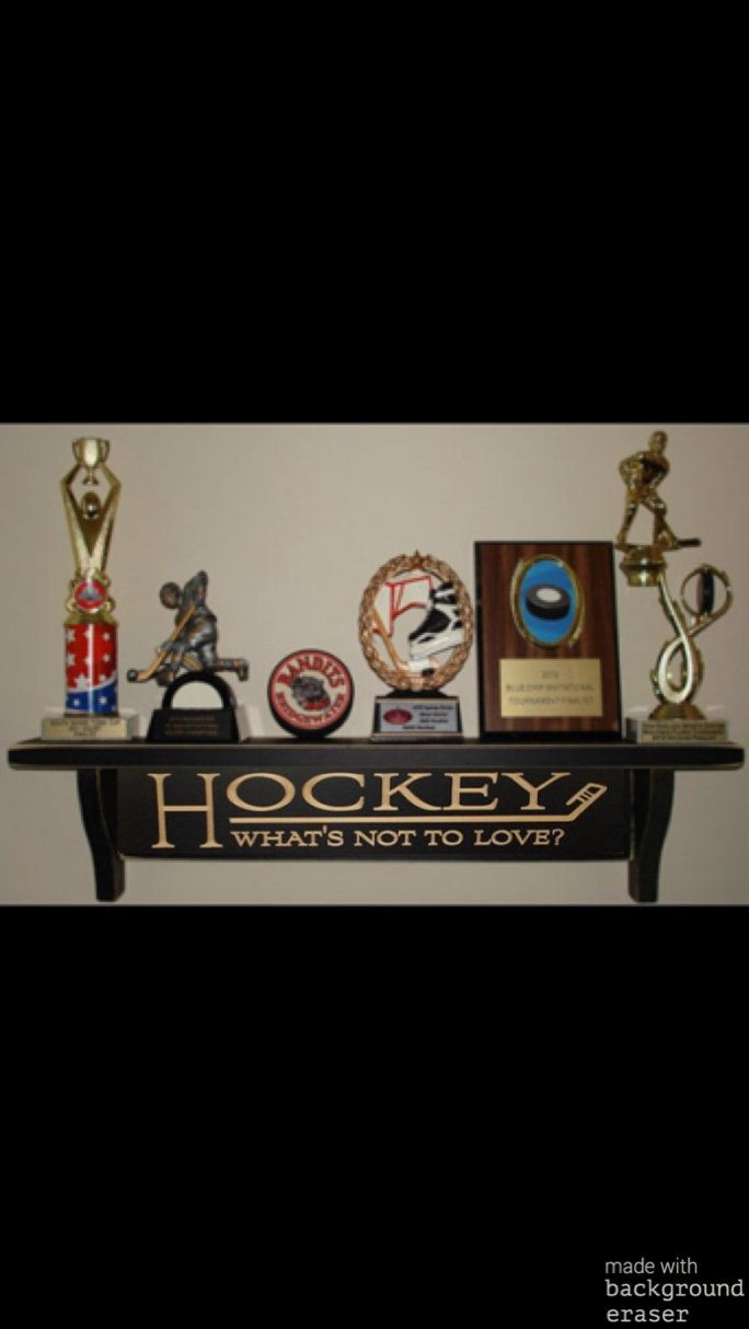 Hockey Gift,Hockey Shelf,Hockey Trophy Shelf,Hockey Decor,NHL,Trophy Shelf,Hockey Sign,Hockey Gifts,Hockey Bedroom,Hockey Mom,Hockey Trophy by SportsHomeDecor on Etsy