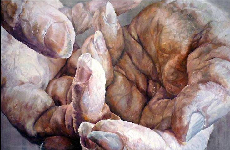 Handpainted VI  oil on canvas 180cm x 108cm