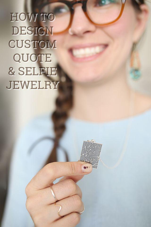 How to Design Custom Quote & Selfie Pendants with Jevelo Jewelry - Shrimp Salad Circus
