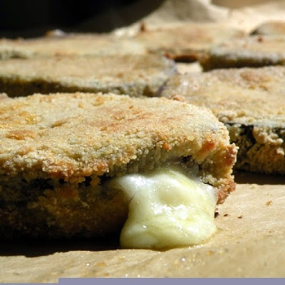 "Melanzane in Carrozza alla Calabrese (Calabrian Style Eggplant Mozzarella ""Sandwiches"")"