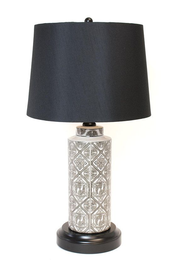 Cordless Lamp Vintage Ceramic Art Nouvea Style