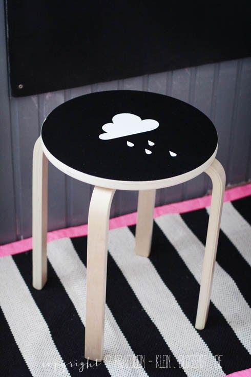 Fräulein Klein : raindrops, clouds and chalkboard DIY