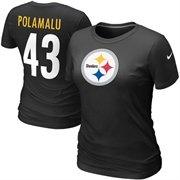 #FanaticsWishList @Fanatics ®Nike Troy Polamalu Pittsburgh Steelers #43 Women's Name & Number T-Shirt - Black