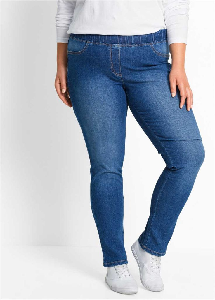 Tayt Pantolon, bpc bonprix collection, taşlanmış mavi