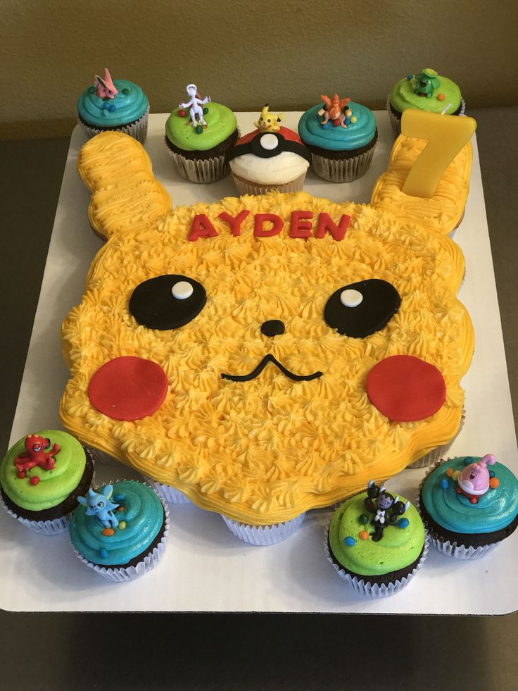 Pokemon Pull Apart Cupcake Cakes