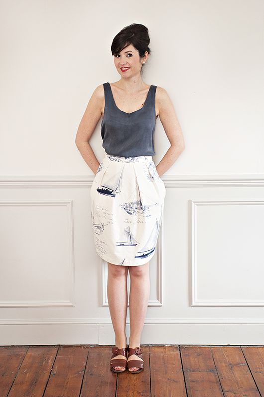 New PDF sewing pattern from Sew Over It! Get your copy on our online shop: http://shop.sewoverit.co.uk/products/tulip-skirt-pdf-sewing-pattern