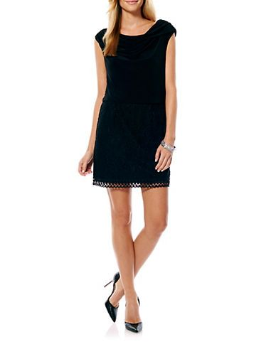 nice Lace Cap-Sleeved Dress
