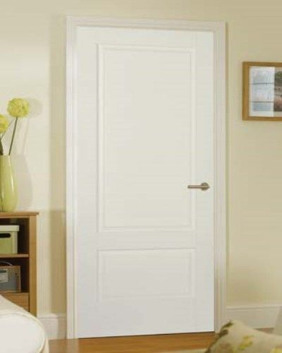 White Primed Solid White Brooklyn Door #whiteprimeddoors