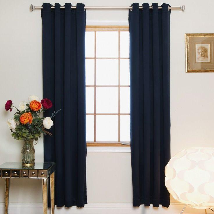 Room Darkening Nickel Grommet Top Curtain Panel