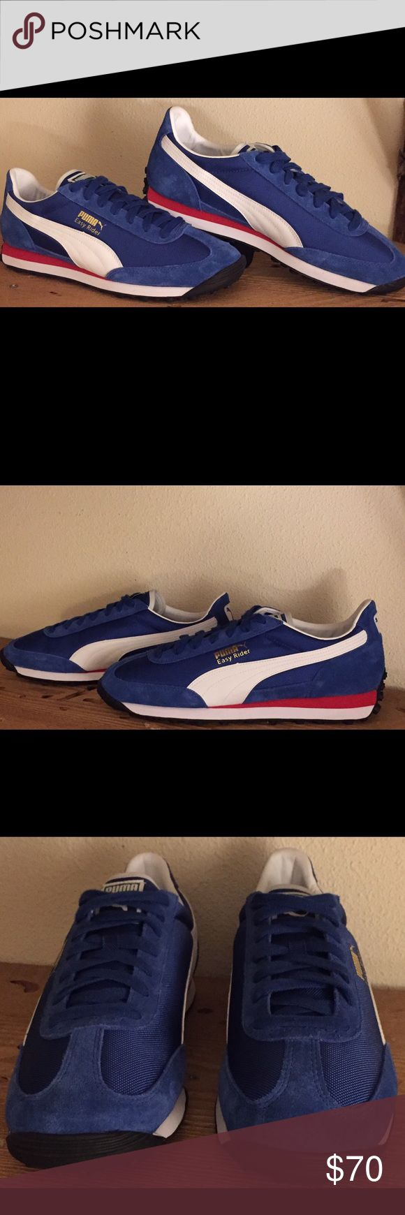 "🚨🚨🎉🎉🚨SALE PRICE !! Puma ""Easy Rider"" sneakers 🚨🚨🚨PRICE DROP!! 🚨🚨🚨Mens Puma Sneakers, Easy Rider style, this color way is very popular with collectors. Never worn, perfect condition. Don't miss out on these classics for your collection!  Isn't it amazing how a pair of shoes can immediately take you back to a different time?! So cool Puma Shoes Sneakers"