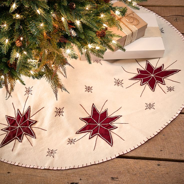 North Star - Christmas Tree Skirt 48""