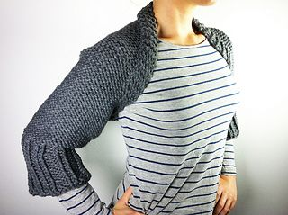 Loom knitted shrug pattern by Tuteate