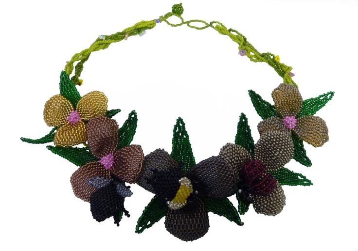 One of the most beautiful beaded necklaces - Ophelia. www.hillaids.org.za
