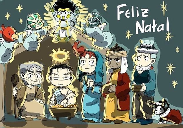 merry christmas but in Portuguese :0  merry Christmas everyone!!!