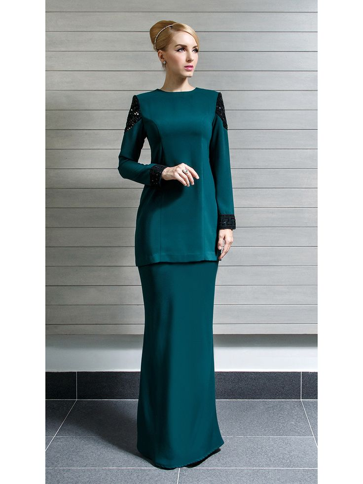 Modern Kurung With Sequin Panels Raya 2015 Pinterest