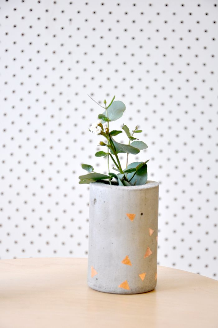 Image of Short Concrete Vase