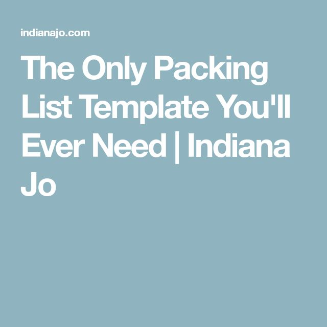 The 25+ best Packing list template ideas on Pinterest Checklist - packing checklist template