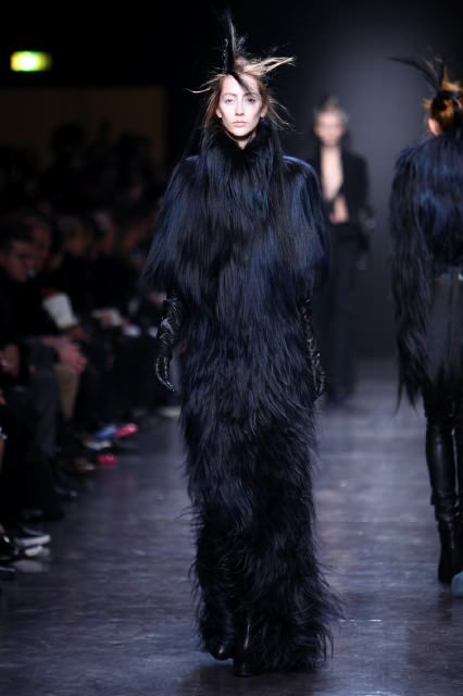 Ann Demeulemeester | Fall 2011/Winter 2012 | The Chic Long Haired Fur Look | MONKEY BUSINESS