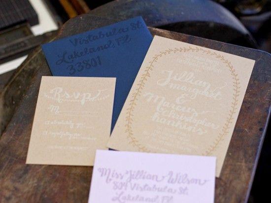 エンボスでシンプルおしゃれ。ナチュラルな結婚式の招待状のまとめ一覧♡