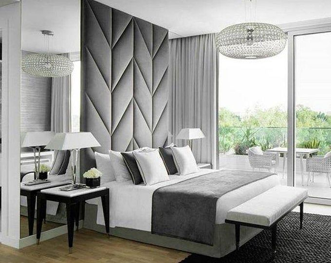 Upholstered Wall Panels Scattered With Images Master Bedrooms