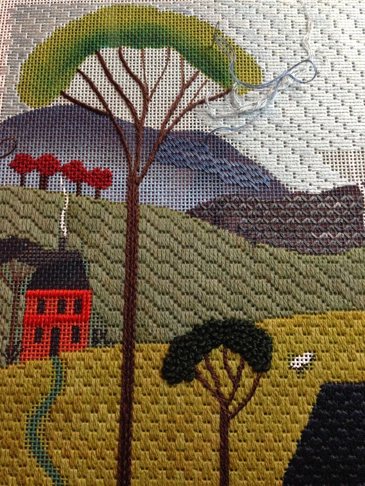 steph's stitching: Blue Hills in Blue Jeans