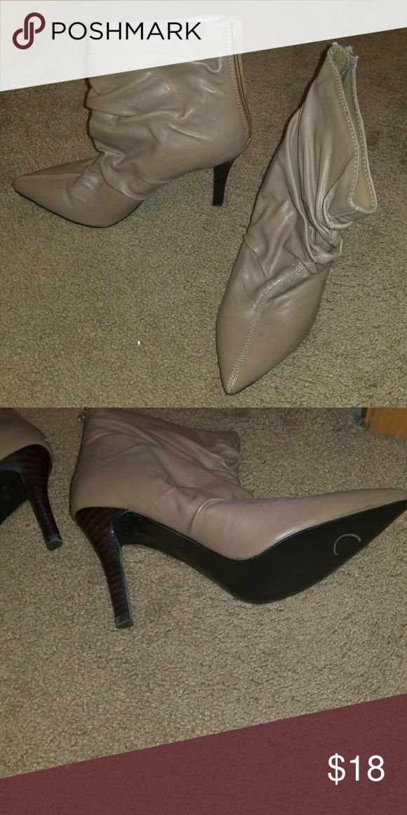 Boots Pointed toe, highheeled ankle boots. Brand new, never worn! carlos Shoes Heeled Boots